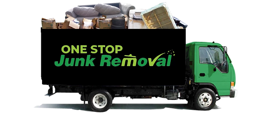 Branded One Stop Junk Removal truck